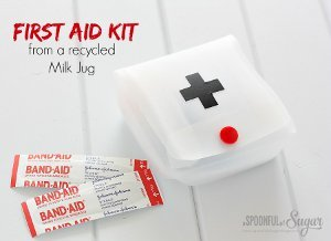 Milk Jug First Aid Kit