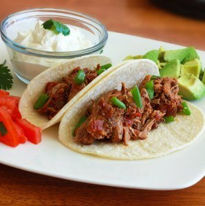 Tinga Poblana Tacos