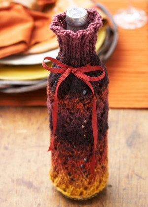 DIY Thanksgiving Wine Cozy