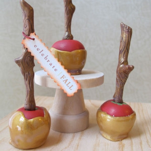 Marvelous Clay Caramel Apples