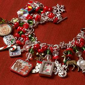 Handmade Christmas Charm Bracelet