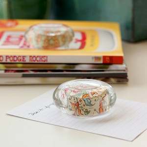 DIY Colorful Glass Paperweights