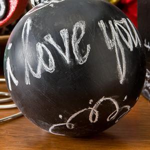 Reindeer Chalkboard Ball Ornament