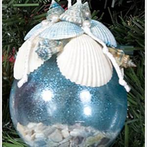 Sparkly Sea Shell Ornament