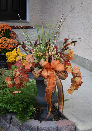 Orange Autumn Flower Arrangement