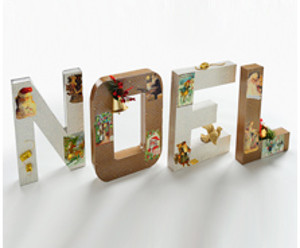 Holiday Village Decoupage Noel
