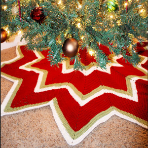Twelve Pointed Star Christmas Tree Skirt