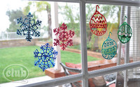 Simple Christmas Window Clings