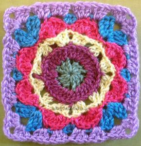 Kaleidoscope Crochet Flower Pattern ...