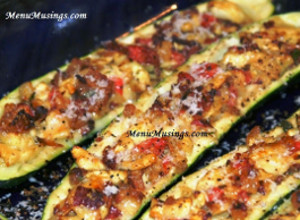 Bacon Stuffed Zucchini Boats