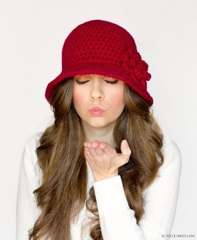 Cherry Red Cloche Hat