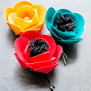 Bright Fabric Flower DIY Hair Accessories