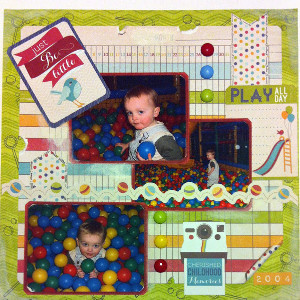 Easy Little Scrapbook Layout