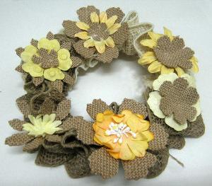 Burlap Ribbon Wreath