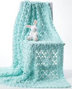 Lacy Eyelet Crochet Baby Blanket ...