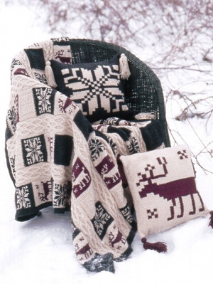 Northern Motifs Afghan and Pillows Set