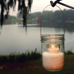 Sparkling Winter Wedding Mason Jar Lanterns