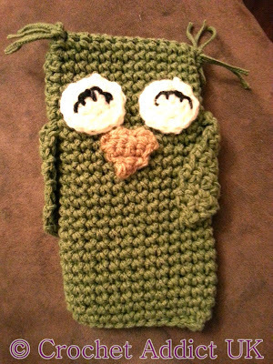 Olivia the Owl Crocheted Phone Cozy
