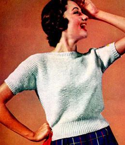 Grandma's Garter Stitch Blouse