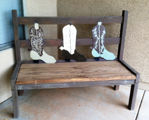 Rustic Wedding Bench