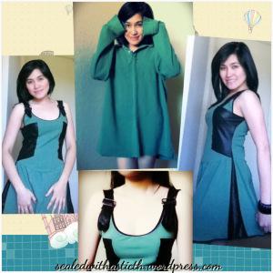 Remixed Sewn Skater Dress