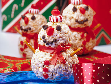 crispy snowmen treats