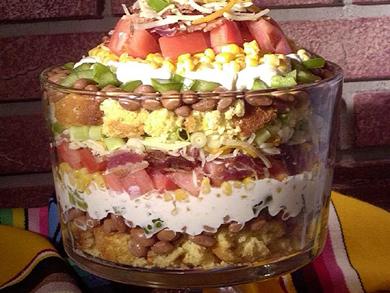 Mexican Corn Bread Salad   mrfood.com