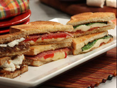 Italian-Antipasto Grilled Cheese | mrfood.com