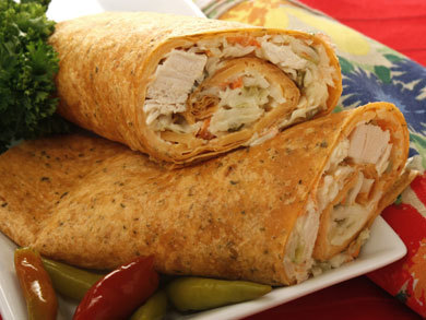Chicken and Slaw Wraps | mrfood.com