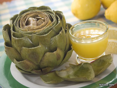 Steamed Artichokes with Butter | mrfood.com