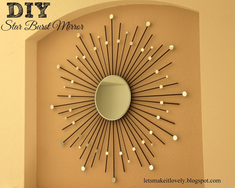 Diy starburst mirror for Art decoration