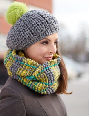 Knitting Patterns For Winter Hats : Nanas Favorite Winter Set AllFreeKnitting.com