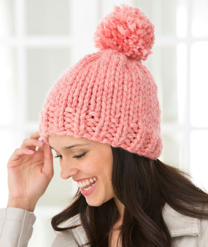 Free Knitting Pattern Hat With Bulky Yarn : 66 Knit Hat Patterns for the Winter AllFreeKnitting.com