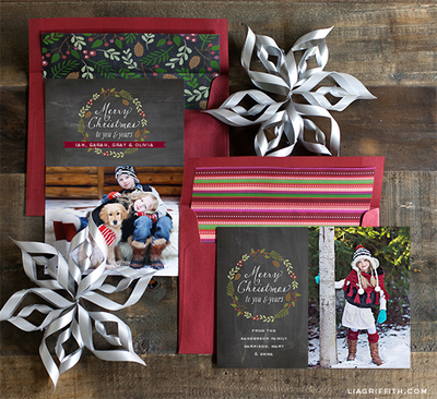 Photo Chalkboard Free Printable Christmas Cards