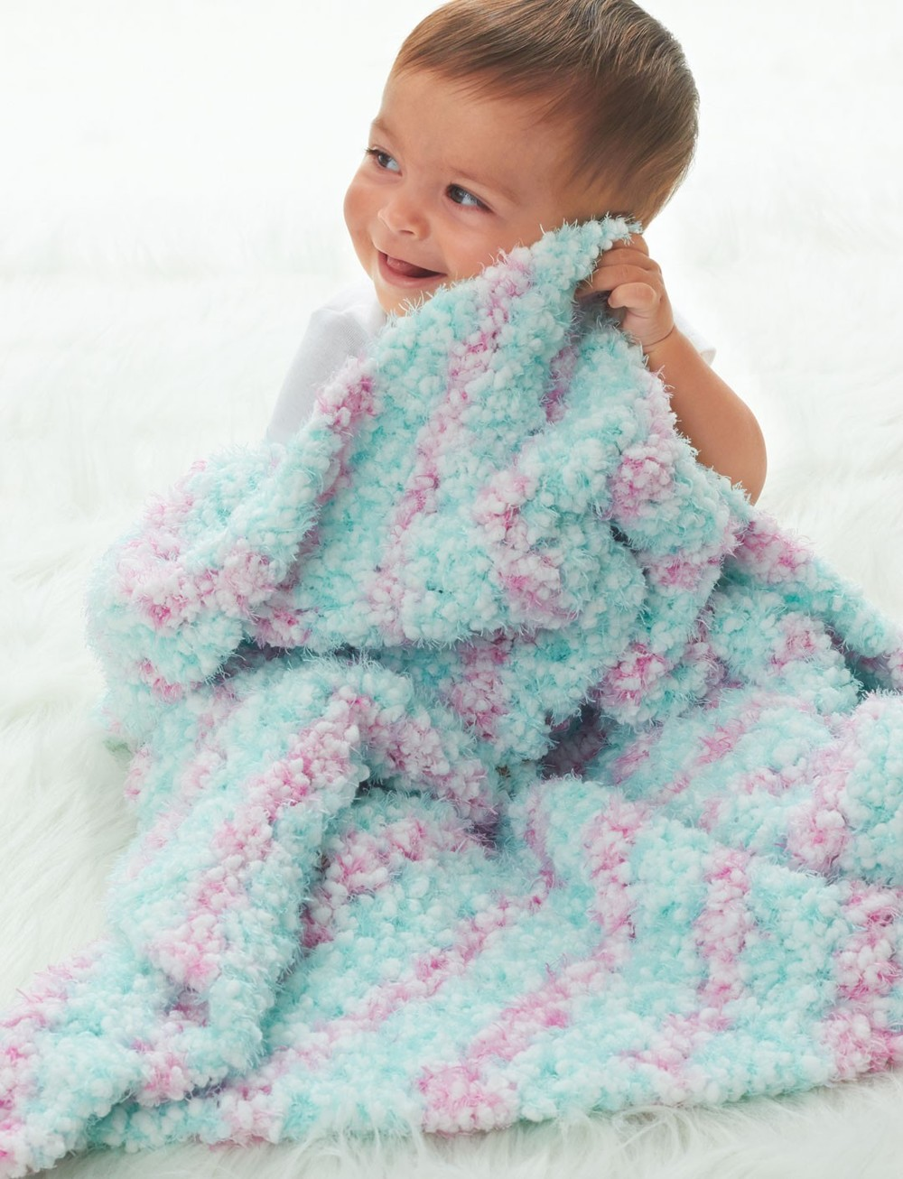 Cotton Candy Crochet Baby Blanket AllFreeCrochetAfghanPatterns.com