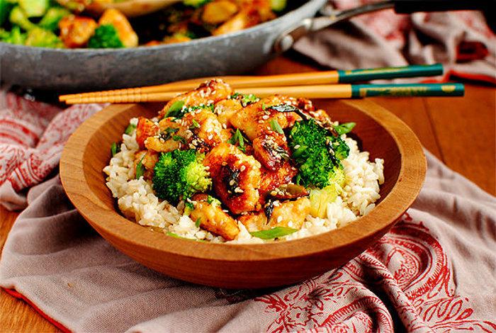 Lighter Chinese Restaurant Sesame Chicken