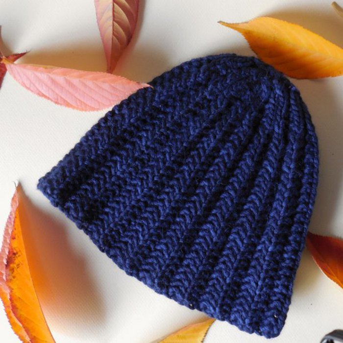 Free Knitting Pattern For Mens Ribbed Hat : Steinway Hat AllFreeKnitting.com