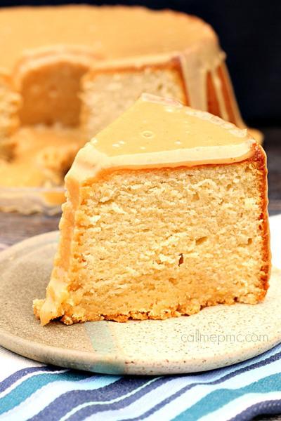 Glazed Peanut Butter Pound Cake