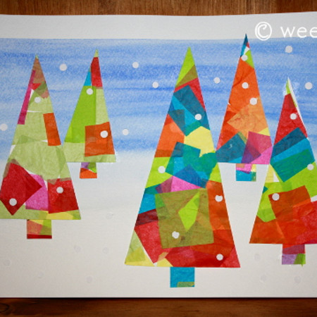 tissue paper art projects
