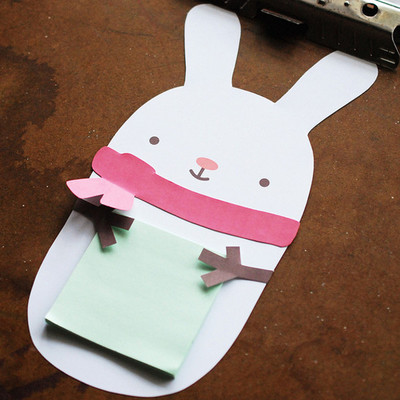 The Cutest Snow Bunny Sticky Note Holder