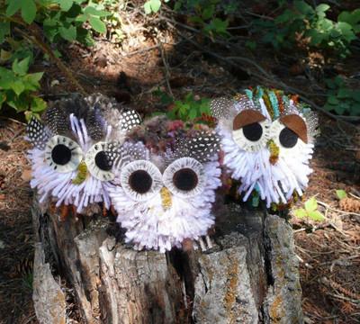 Precious Pom Pom Owls