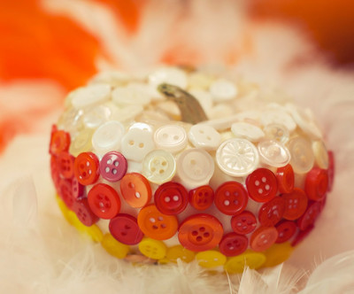 Candy Corn Button Pumpkins