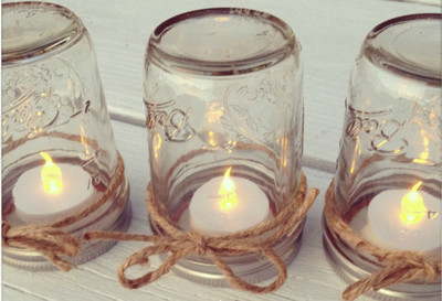 Dreamy Mason Jar Table Lanterns