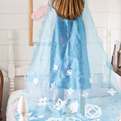 No Sew Princess Elsa Cape