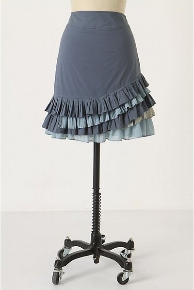Anthropologie Ruffled Skirt