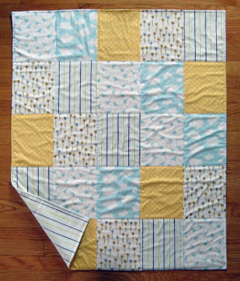Easy Quilt Patterns For Baby : All Fives Baby Quilt FaveQuilts.com