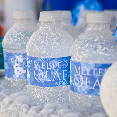 Melted Olaf Water Bottles