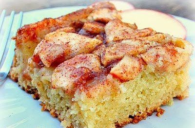 Apple Cake Slice Using Cake Mix And Sour Cream