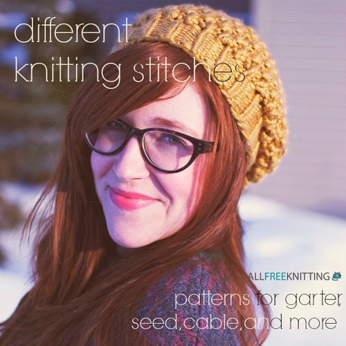 Different Knitting Stitches: 146 Patterns for Garter, Seed, Cable, and More