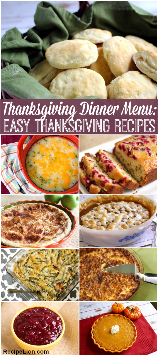 21 Easy Thanksgiving Recipes